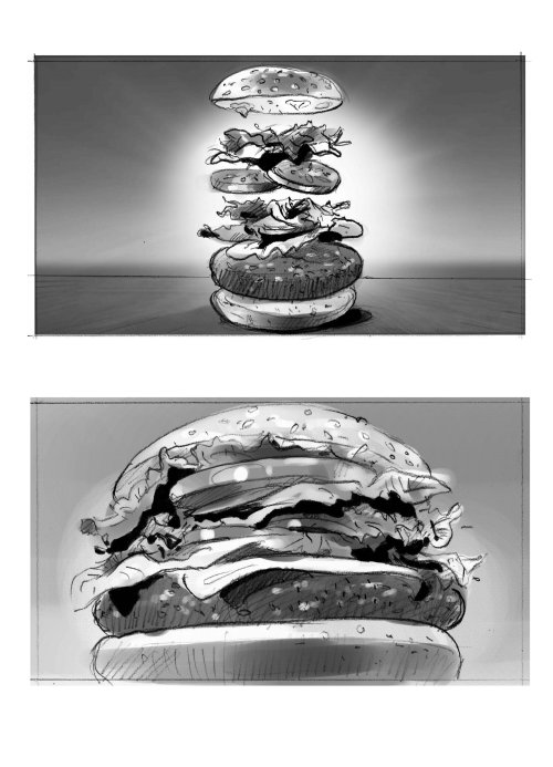 Food and drink illustration of burger