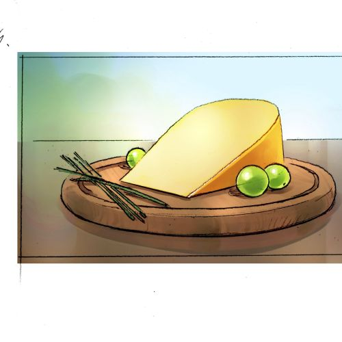 Food illustration of cheese cake