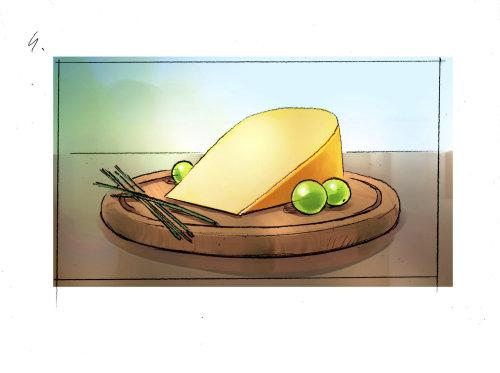 芝士蛋糕的食物插图