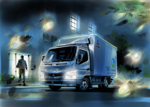 Transport illustration of Delivery Truck