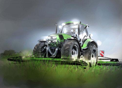 Graphic design of harvester