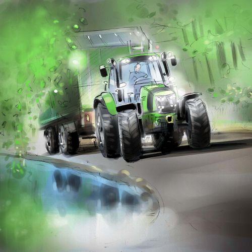 Digital painting of vehicle