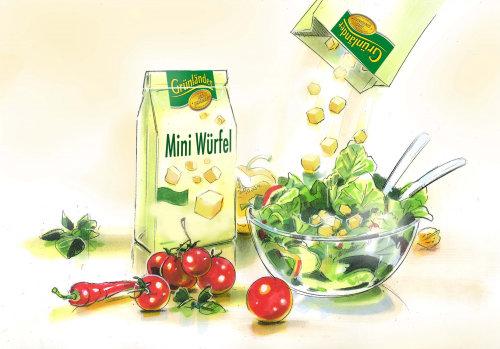 Vegetables digital painting