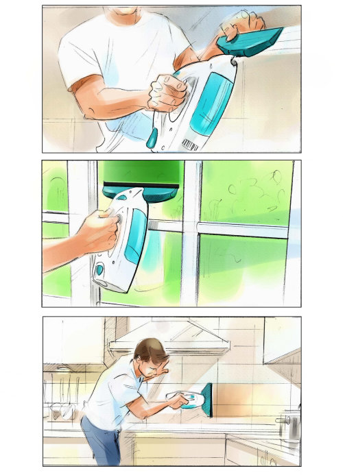 Illustration of filling water