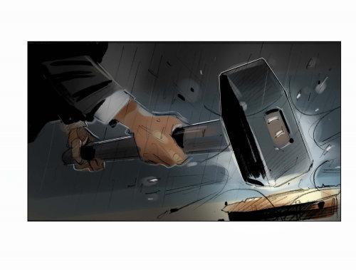 Hammer Hitting digital painting