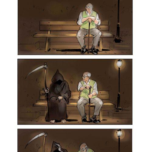 Storyboard design of talking with devil