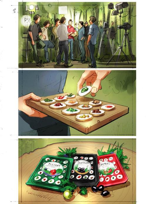 Food illustration of fruits