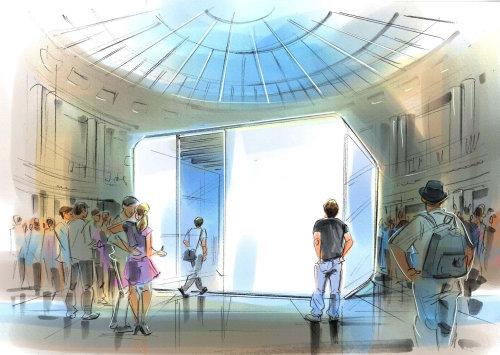 Architecture design of museum