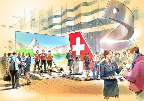 Banner design for red cross