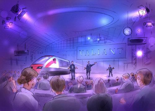 Conceptual illustration of explanation of metro
