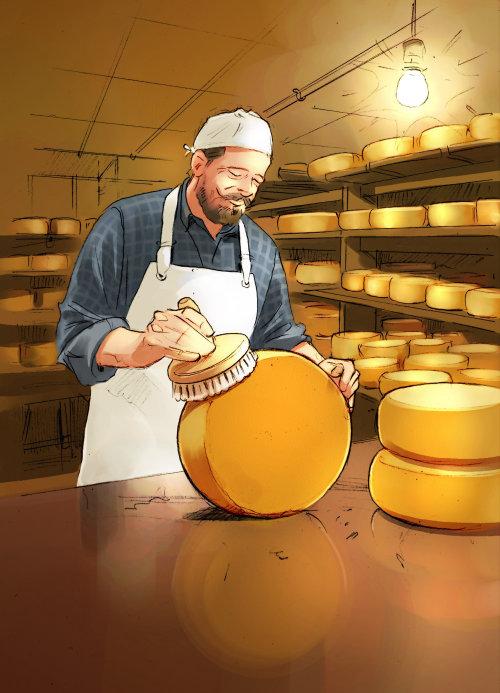 Ilustración del chef de repostería