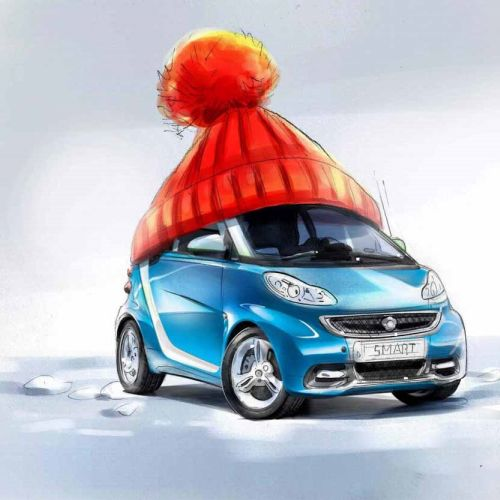 Digital painting of smart nano car