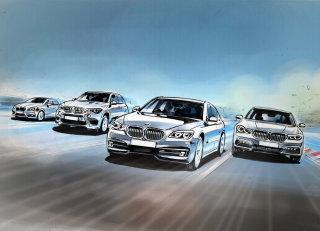 Digital illustration of cars