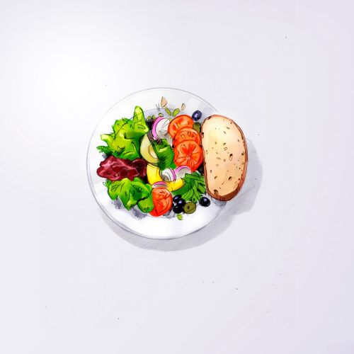 illustration of Caesar Salad