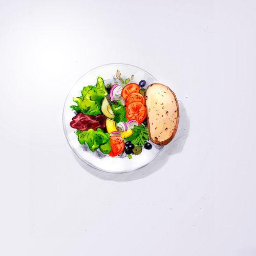 illustration of Caesar Salad