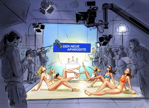 Digital painting of der neue aphrodite