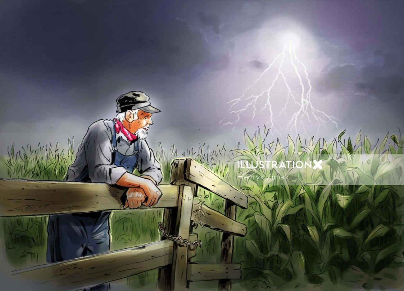 Standing in farm
