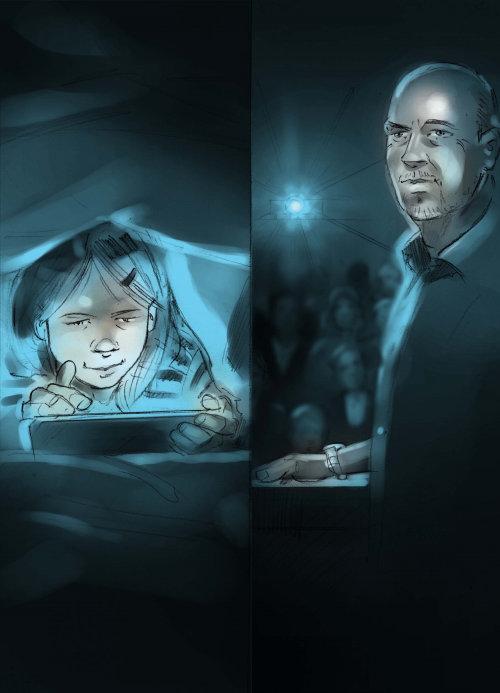 Graphic design of night playing game