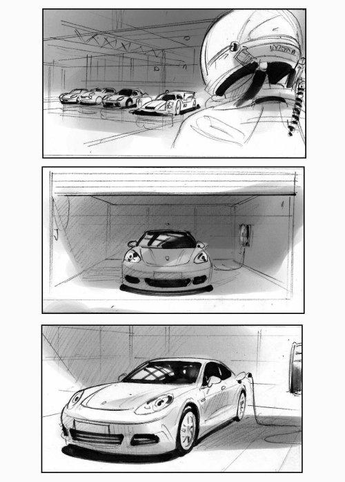 Sketch art of luxury car