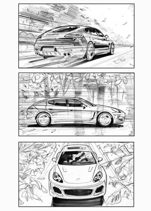 Line illustration of cars