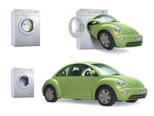 Transport illustration of VW Beetle