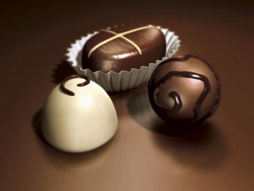 Beautiful Chocolates 3d Rendering Artwork