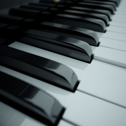 Cgi art of Piano Keys