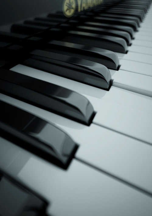 Cgi art of Piano Keys