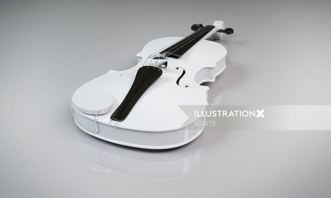 Marvellous Violin 3d illustration by IGNITE