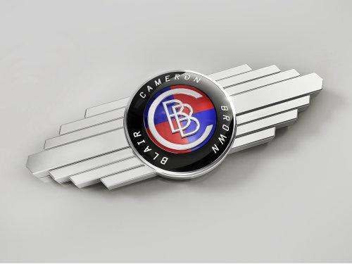 3D illustration of Car Badge