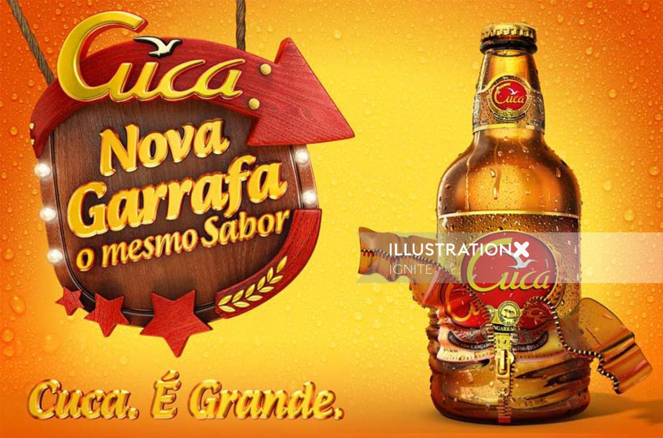 Packaging illustration of Cuca Bottle