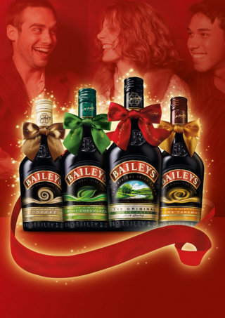 Beautiful Christmas Promotional Branding Work For Baileys