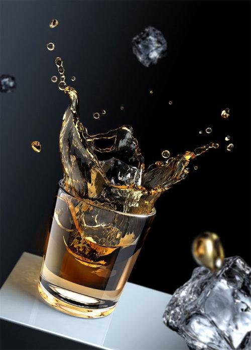 Photorealistic illustration of splash