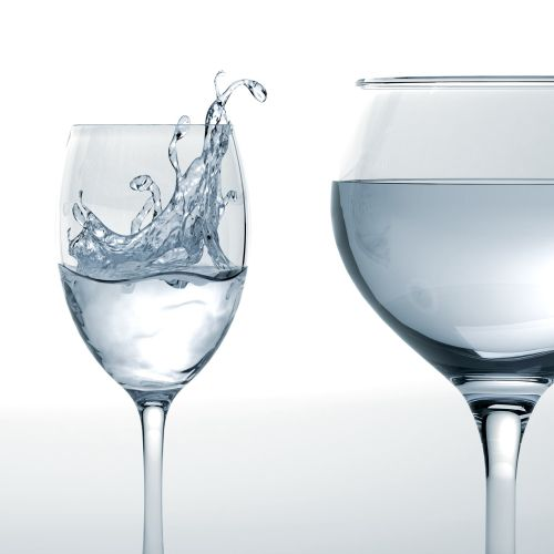 Graphic design of Glasses and splash