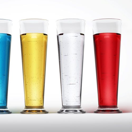Illustration of multi coloured glasses