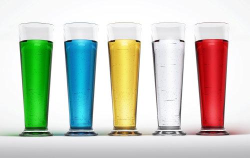 Illustration of multi coloured glasses
