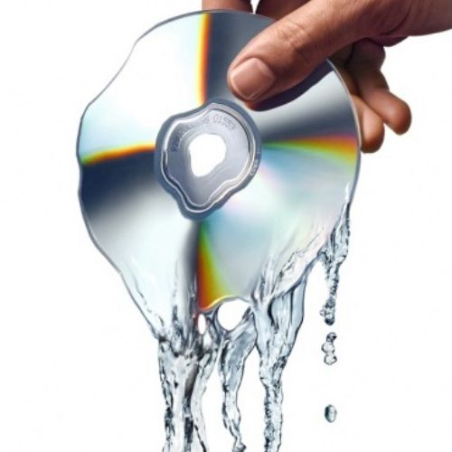 Pouring CD Digital Illustration