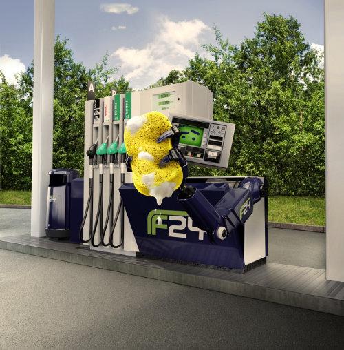 F24 Petrol Pump Character design