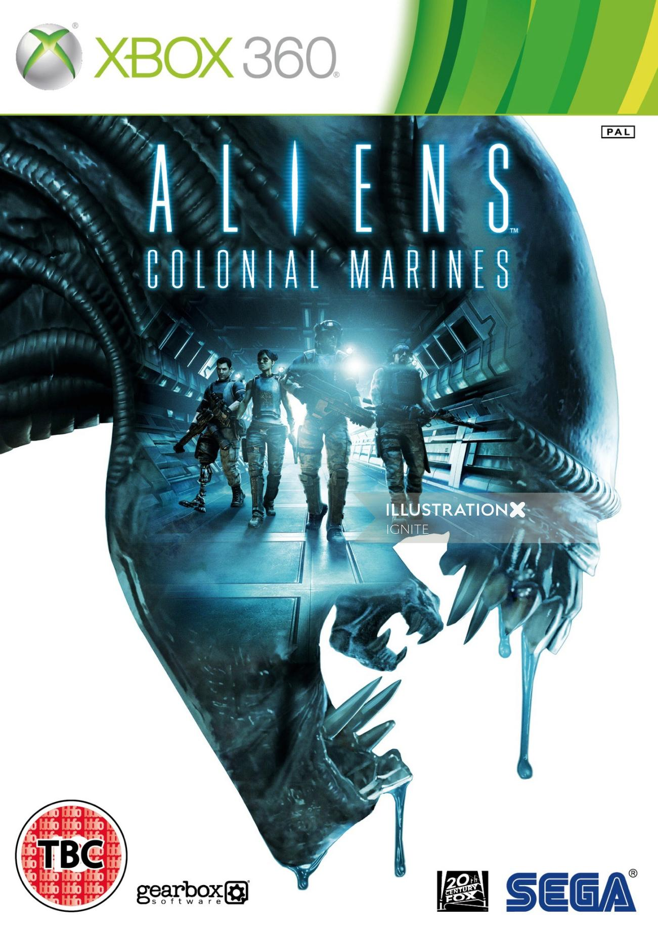 Aliens Colonial Marines Poster Art For Xbox 360
