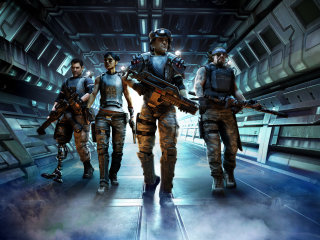 Aliens Colonial Marines Movie Characters CGI Painting