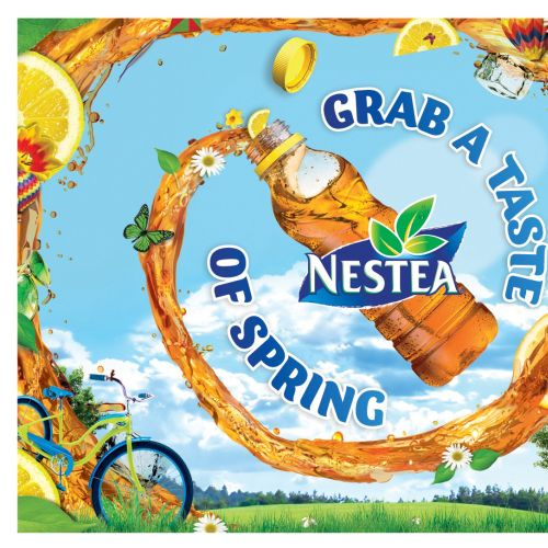 Graphic design for Nestea Lemon Tea Landscape Final