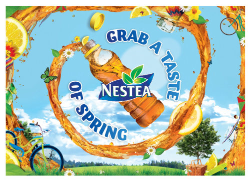 Graphic design for Nestea Lemon Tea Landscape Final