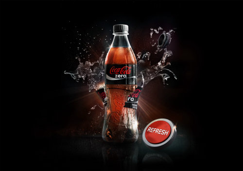 Coca Cola drink 3d design