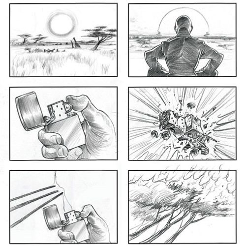 Storyboard art image of light