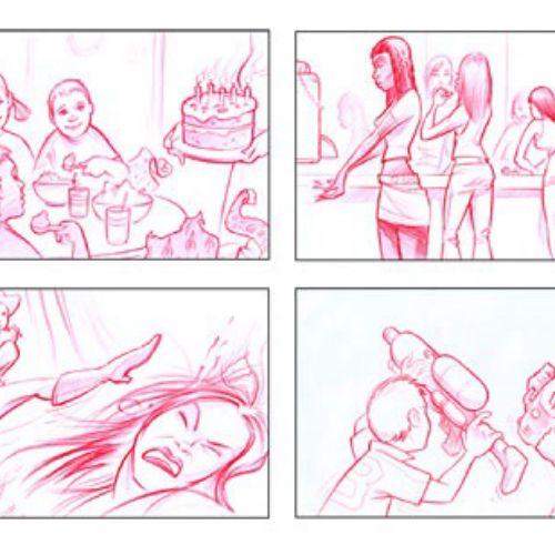 Line Gangs storyboard