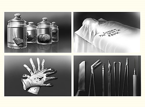 Storyboard preto e branco do Pencil Slaughter