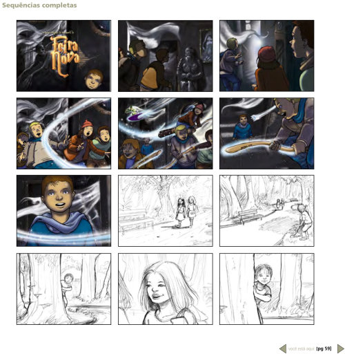 Pencil Wizard color storyboard