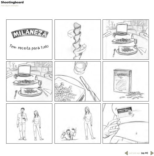 Storyboard de produto de lápis