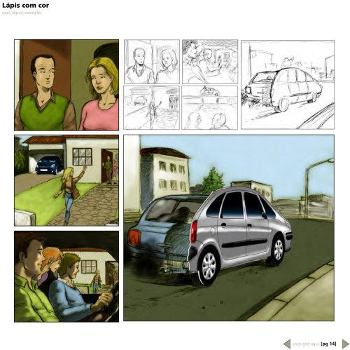 Storyboard gráfico do carro