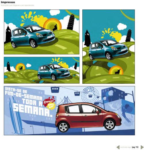 Infográfico carro divertido